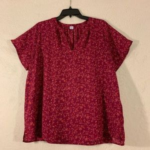 Old Navy Floral Top Size Large